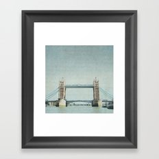 Letters From the Tower Bridge - London Framed Art Print