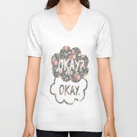 tfios V-neck T-shirts featuring OKAY?OKAY THE FAULT IN OUR STARS TFIOS HAZEL AUGUSTUS CLOUDS #2 by monalisacried