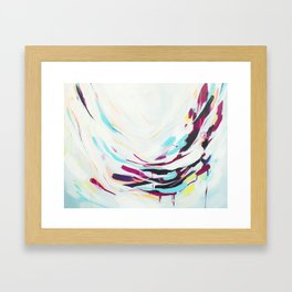 The Healer - Abstract painting #society6 Framed Art Print