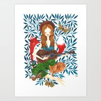 oana befort Art Prints featuring PLAY ME A SONG by Oana Befort