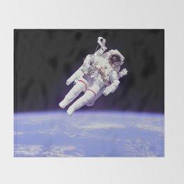 Astronaut on a Spacewalk Throw Blanket