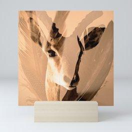 Beautiful and fast - Impala portrait Mini Art Print