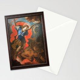 Antonio Palomino - The Archangel Michael Defeating Satan Stationery Cards