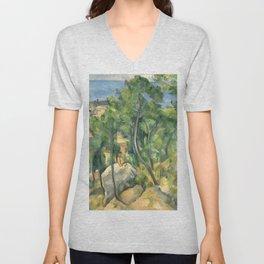 "Paul Cezanne ""View of the sea at L'Estaque"" Unisex V-Neck"