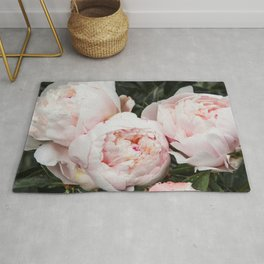 Flower Photography | Peonies Cluster | Blush Pink Floral | Peony Rug