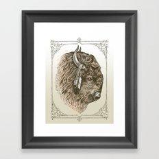 Buffalo Portrait Framed Art Print