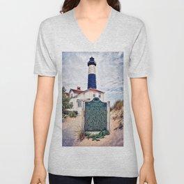 """Big Sable Point Lighthouse"" Unisex V-Neck"
