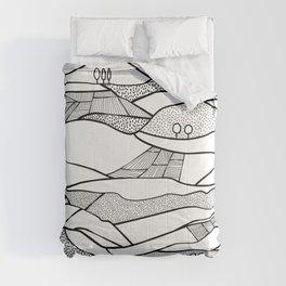 Monegros - Black & White Landscape Comforters