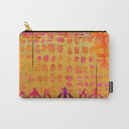 Gold and Orange Dot Abstract Art Collage Carry-All Pouch