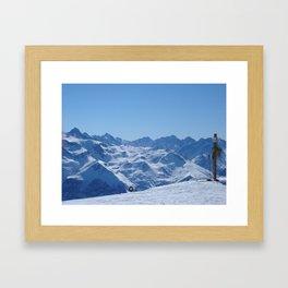 alpes.. Framed Art Print