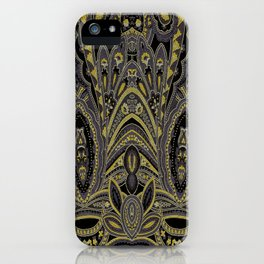 Paisley 7 Gold iPhone Case