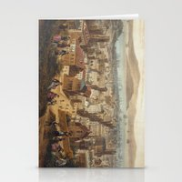 san francisco map Stationery Cards featuring Vintage Pictorial Map of San Francisco (1860)  by BravuraMedia