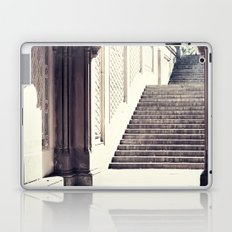 New York, NYC, Central Park arches on black and white II Laptop & iPad Skin