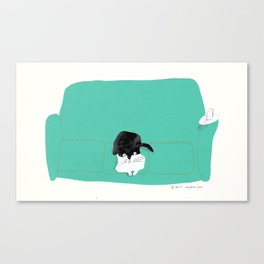 couch cat Canvas Print