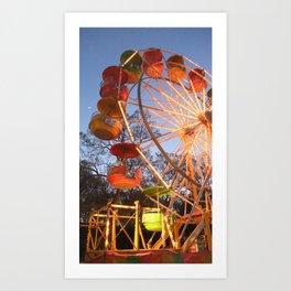 It's a Beautiful Night for a Ride on a Ferris Wheel Art Print