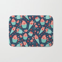 Valentine's sweets - Blue Bath Mat