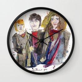 Hermione, Harry, & Ron Wall Clock