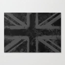 Black UK Flag Canvas Print