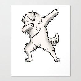 Funny Dabbing Great Pyrenees Dog Dab Dance Canvas Print
