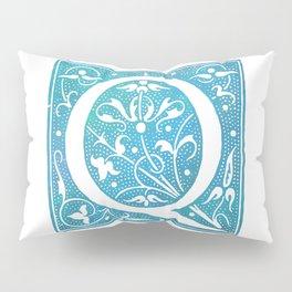 Letter Q Antique Floral Letterpress Monogram Pillow Sham