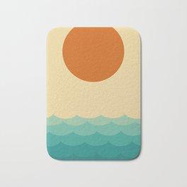Sun and waves Bath Mat