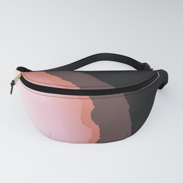 Bohemian Abstract Pink Brown Gemstone Fanny Pack