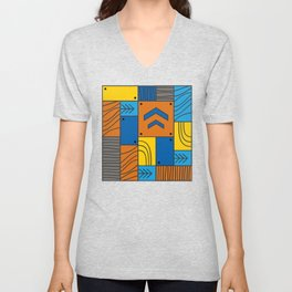 Pattern: abstract forest Unisex V-Neck