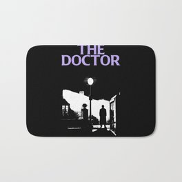 The Exorcist movie poster parody of Doctor Who 10th Bath Mat