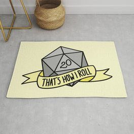 That's How I Roll D20 Rug