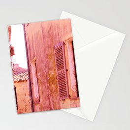 Ancient pink village Stationery Cards