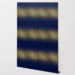 Linear Blue & Gold Wallpaper