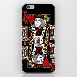 BLACK KING OF HEARTS CASINO PLAYING CARDS FROM iPhone Skin