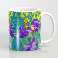 iris Mugs featuring Iris by marlene holdsworth