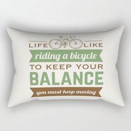 Bike Quote Rectangular Pillow