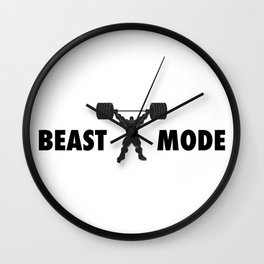 Heavy weight lifter muscle bodybuilder silhouette Wall Clock