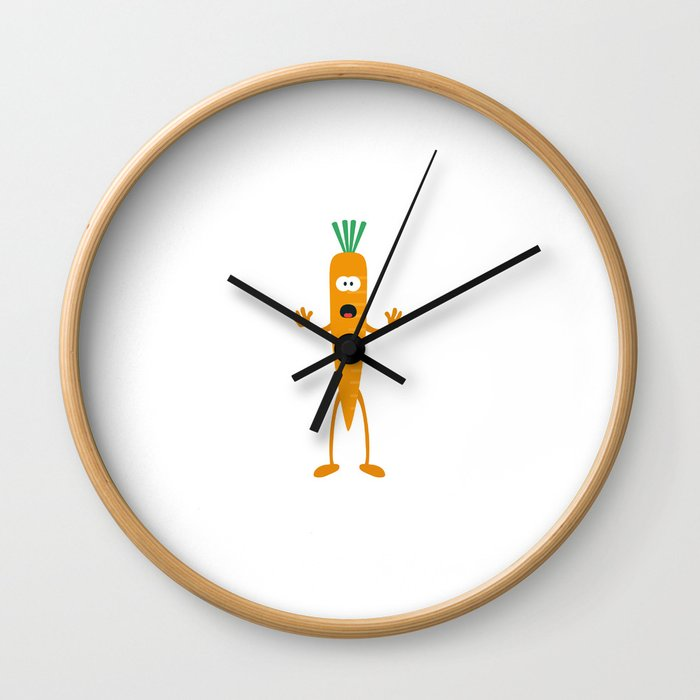 Carrot man Wall Clock