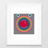 trout Framed Art Prints featuring Rainbow Trout by Gabriel J Galvan