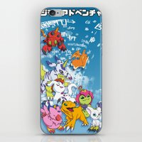 digimon iPhone & iPod Skins featuring Digimon Adventure Partners by Jelecy