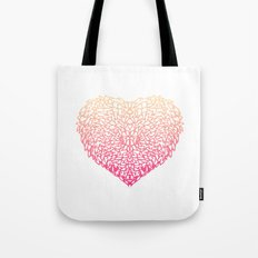 Pink Heart - Light White background Tote Bag