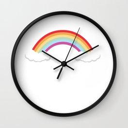 No Thanks I'm Good Graphic Rainbow Funny T-shirt Wall Clock