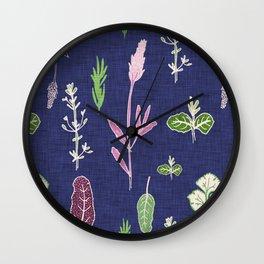 Aromatherapy Blue Wall Clock