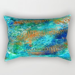 Copper beneath the waves Rectangular Pillow