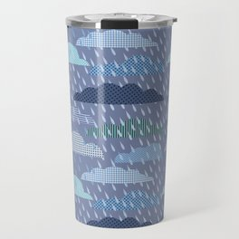 pattern with clouds. Vector pattern Travel Mug
