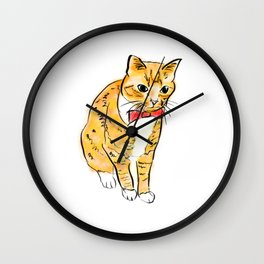 CAT WITH A BOW TIE Wall Clock