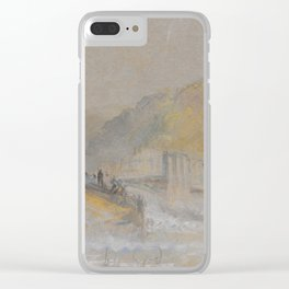 "J.M.W. Turner ""Foul by God - River Landscape with Anglers Fishing From a Weir"" Clear iPhone Case"