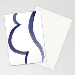 Purple Mama Outline Painting Stationery Cards