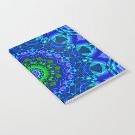 green blue kaleidoscope Notebook