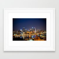 pittsburgh Framed Art Prints featuring Pittsburgh by John Cruz