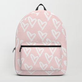 White hearts Backpack