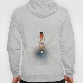 The Exclamation, male nude emotional, NYC artist Hoody